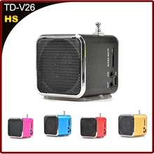 promotion! lowest price Unique Micro SD TF USB Mini Speaker Music Player Portable FM Radio Stereo PC mp3 for four color(China (Mainland))
