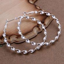 Buy silver plated earrings fashion jewelry earrings beautiful earrings high Waves Line Earrings bt cp for $1.22 in AliExpress store
