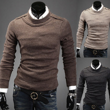 Korean style business men costume men's casual long sleeve sweaters clothing man autumn winter warm pullovers clothes M-XXL(China (Mainland))