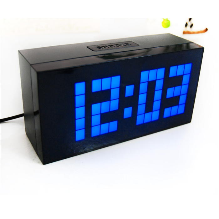 Big Digital LED Clock with Backlight Big Screen Wall Clock Home & Office Decor Alarm Clcok Free Shipping(China (Mainland))