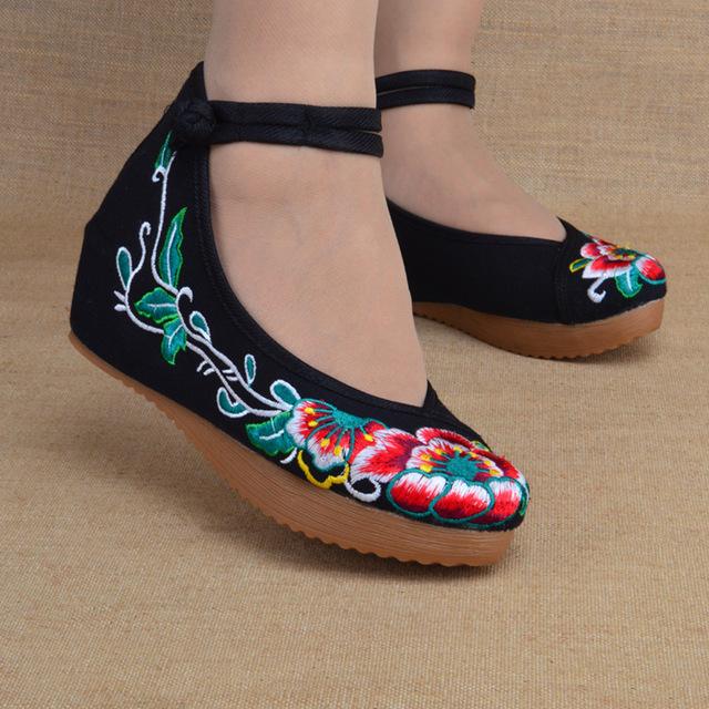 2016 новый вышивка обувь свободного покроя этнические ретро женская цветочный мягкой ...