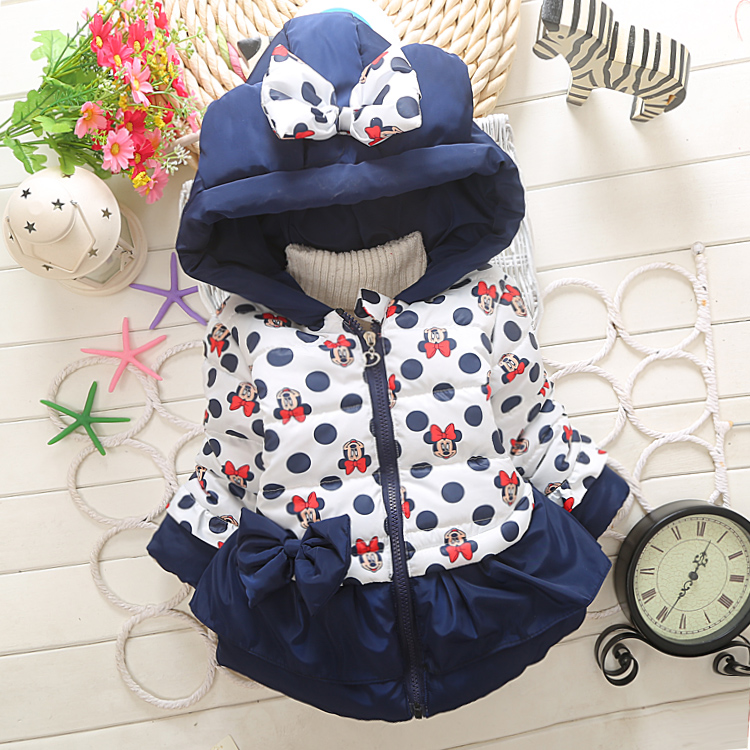 Free Shipping 2015 New Minnie Kids Clothes Girl Winter Coat Jacket Down Children Girls Parka Outwear Warm Duck Down 1-5T<br><br>Aliexpress
