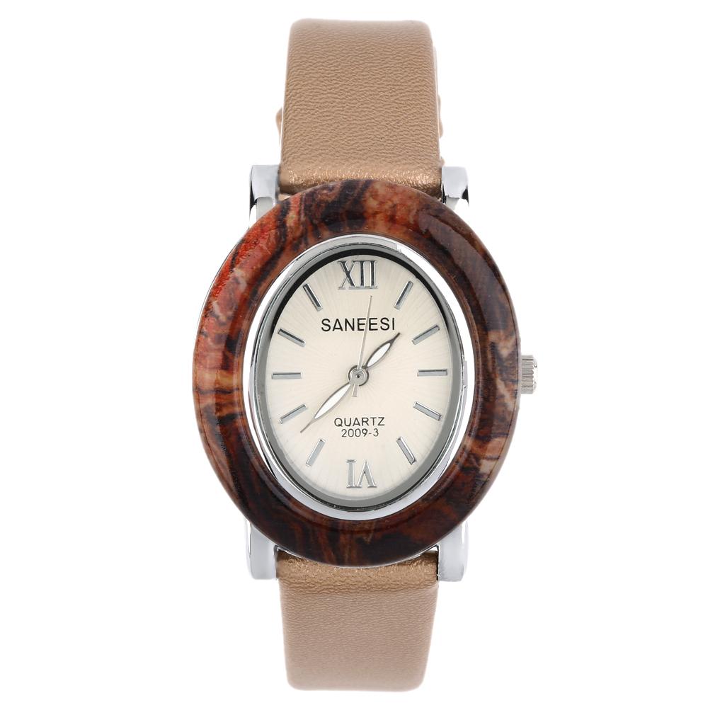 Retro Fashion Women Lady Watch Oval Quartz Watch Jade Shell Leather Watchband Relogio Feminino Special Wristwatch top quality(China (Mainland))