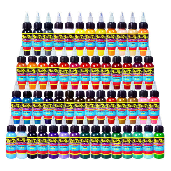 Solong Tattoo Ink Kits 54 Color 1OZ (30ml) Pigment for Tattoo Machine Gun Set Free Shipping<br><br>Aliexpress