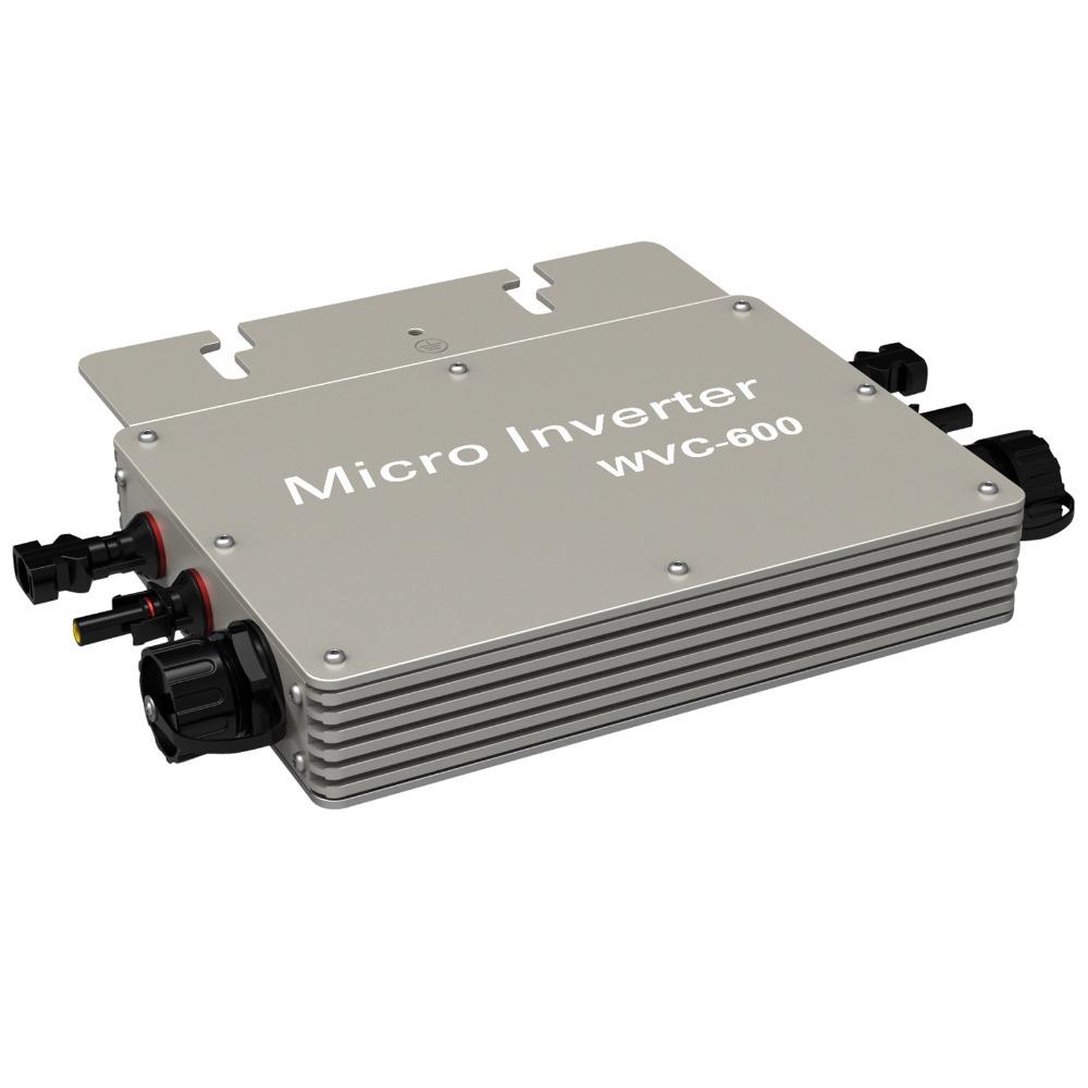 600W Grid Tie Inverter 600Watt 220V/230V/240 Volt Solar Power Inverter Grid Tie Inverter Pure Sine Wave Micro Inverter WVC600(China (Mainland))