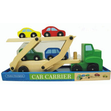 Montessori Kids Toys Baby Toys Wood Cars Carrier Loader Model Truck Learning Educational Preschool Training Brinquedos  WJ-188(China (Mainland))