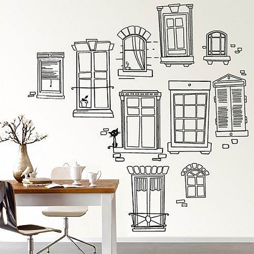 window pencil drawing. Black Bedroom Furniture Sets. Home Design Ideas