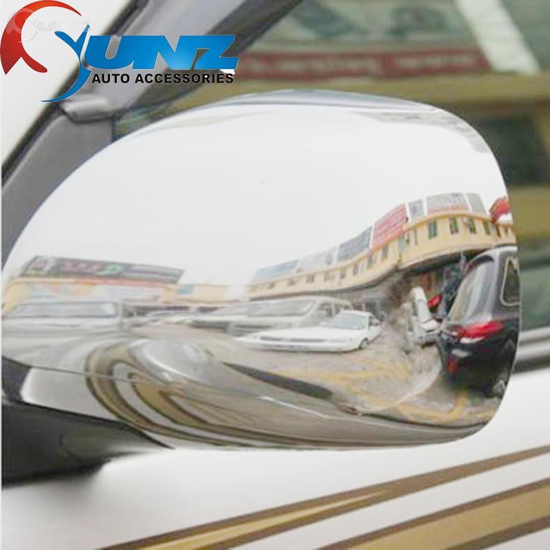 ABS chrome design Prado 120 accessories side mirror cover cap trim fit toyota prado fj120 2003 2004 2005 2006 2007 2008 parts(China (Mainland))