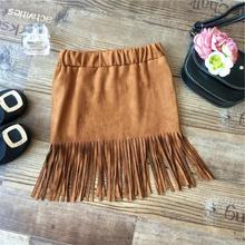 BabyPalace wholesale new 2015 Spring/Fall girls skirts tassels leisure fashion skirts(China (Mainland))
