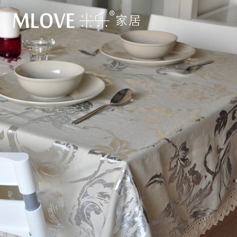 Miller off the new classical style of European fabric cloth hot silver table cloth table cloth cover towels(China (Mainland))