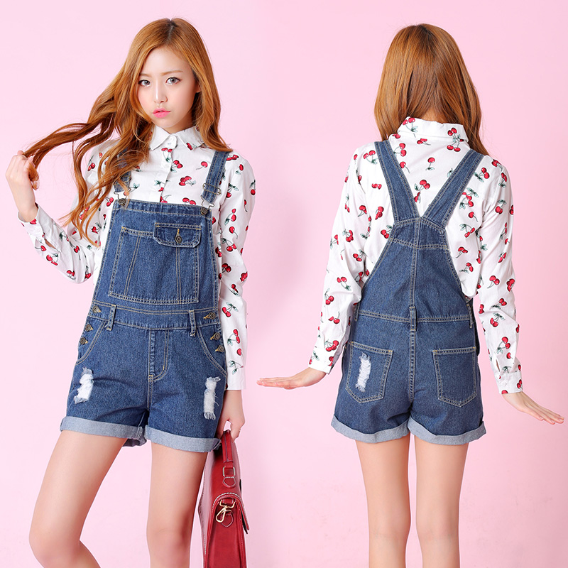 Popular Denim Casual Jumpsuit Women Rompers Short-Buy Cheap Denim ...