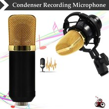 Black High Quality Professional 3.5mm Wired BM700 Condenser Sound Recording Microphone with Shock Mount for Radio Braodcasting(China (Mainland))