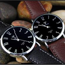 Relogios masculinos Slim Blue Glass Mirror Watch Men Waterproof Leather Business Quartz Watches Luxury Brand Fashion