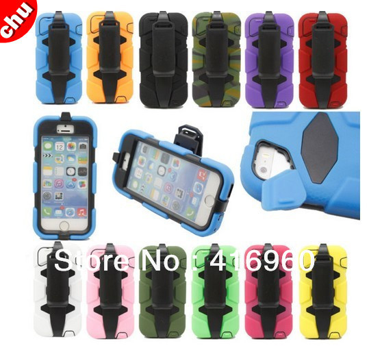 New Waterproof Armor Military Heavy Duty Case Cover BELT CLIP iPhone 5 5S - chuyuestyle store