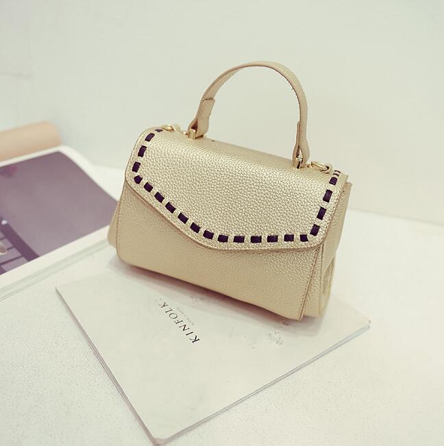 New fashion brand handbag red pu leather tote bag vintage hanbags high quality portable women bag(China (Mainland))