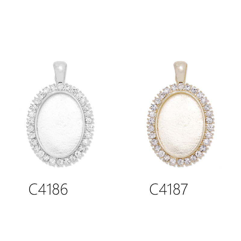 18x25mm oval pendant trays necklace pendant trays blank