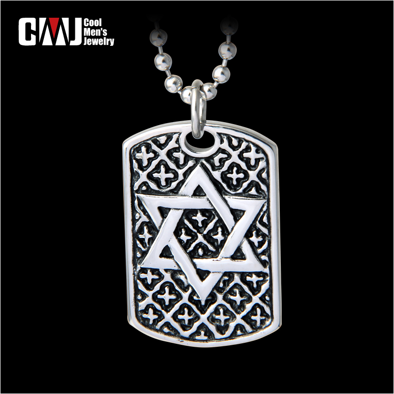Male accessories male personalized tags vintage hexagram pendants necklace magic titanium accessories