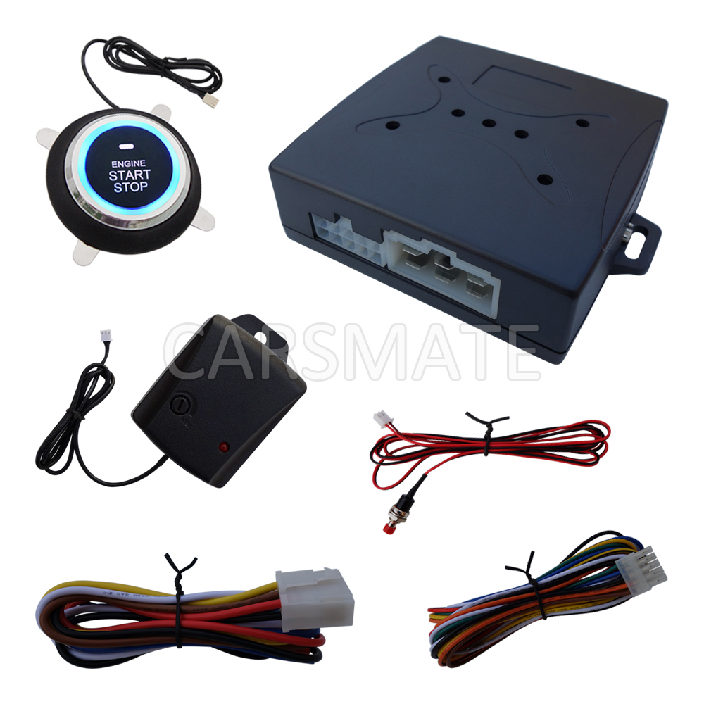New Upgrade One Way Car Security Alarm System Engine Start Stop With Shock Sensor & Emergency Release Switch(China (Mainland))