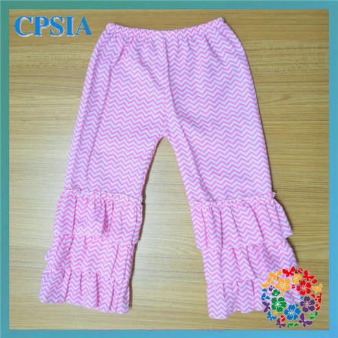 Hallowmas/Christmas Training Pants Baby Pants Chevron Ruffle Baby Leggings Girls Ruffle Pants(China (Mainland))