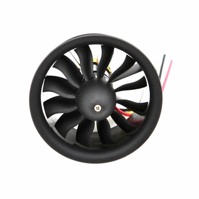 64mm Ducted Fan Set 12 Blades Electric EDF 4s motor kv2500 set Balanced Packaging - Top-Way Electronic Technology co., LTD store