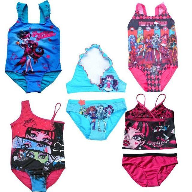 Retail girls swimwear kid monster high swimsuit 5 14y - Maillot de bain monster high ...