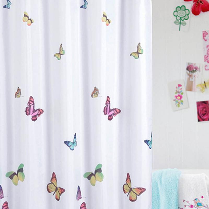 new fashion cute butterflies pattern bath curtain