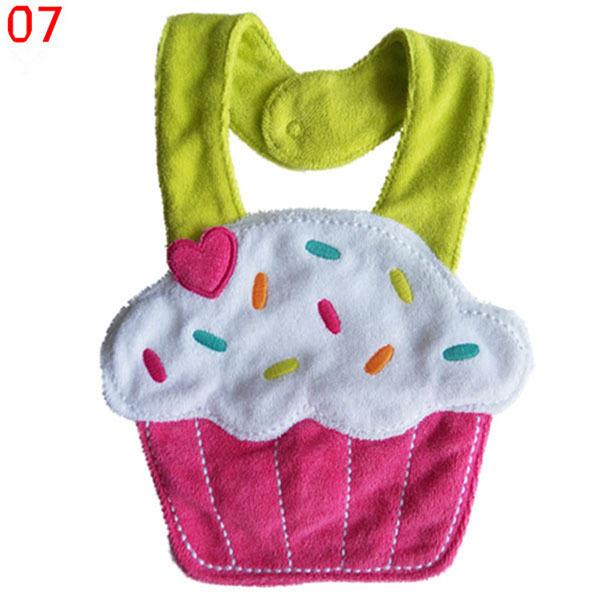 Kids Girl Boy Baby Lunch Bibs Animals Cotton Saliva Towel waterproof Infant Bibs Free Shipping & Drop Shipping
