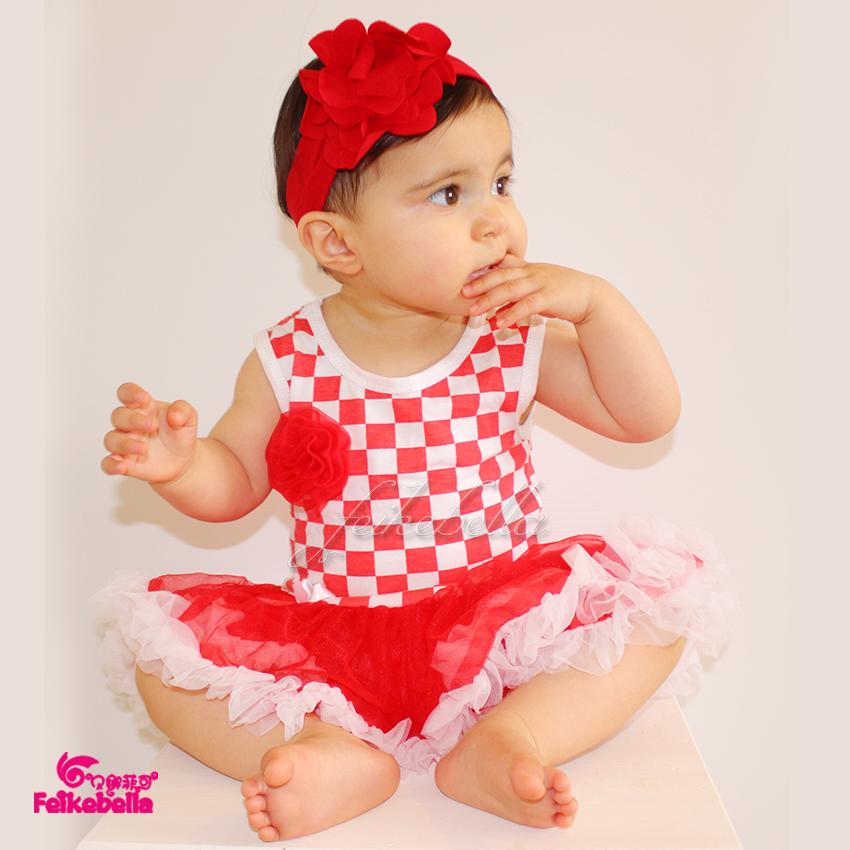 Lovely Pakistani Baby Cotton Dress Toddler Girls Wedding Dress Plaid Pattern Girl Dresses Ruffle Tutu Romper Free Shipping(China (Mainland))