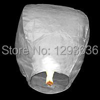 10pcs Hot Sale wedding and party supplies WHITE SKY LANTERNS wishing lanterns chinese paper lanterns free shipping(China (Mainland))