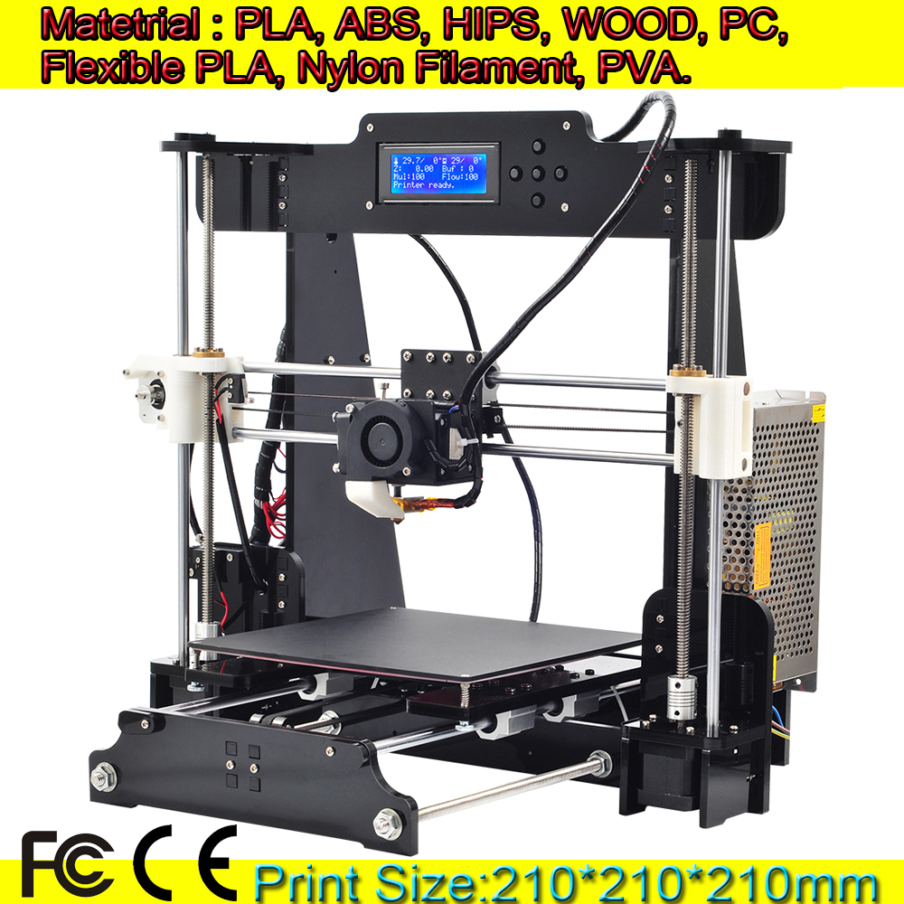 Support Wood Flexible PLA Nylon LCD Screen Reprap Prusa i3 desktop 3D Printer Machine impressora DIY KIT 8GB SD Memory Card(China (Mainland))