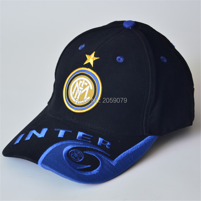 22 teams can choose snapback cotton black blue sports football baseball caps Adjustable soccer Inter Milan hats(China (Mainland))