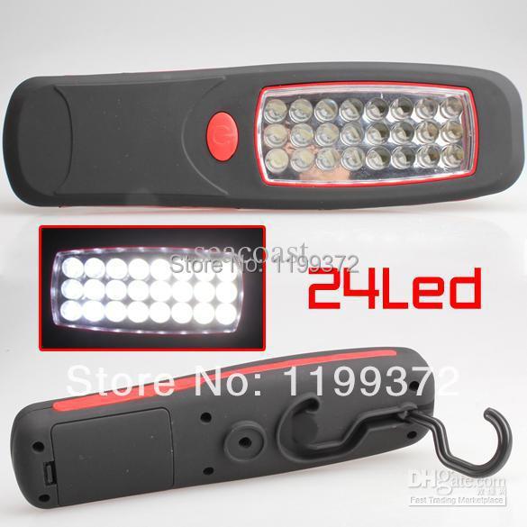 Best Price 100 pcs/lot 24LED Practical Fashion Plastic Flashlight Portable Tool Light New Torch(China (Mainland))