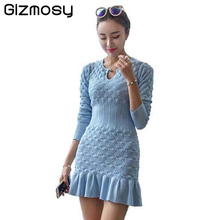 Buy Women Winter Sexy Dress Long Sleeve Thicken Party Slim Fit Package Hip Hedging Knitted Sweaters Dresses Girl BN059 for $28.00 in AliExpress store