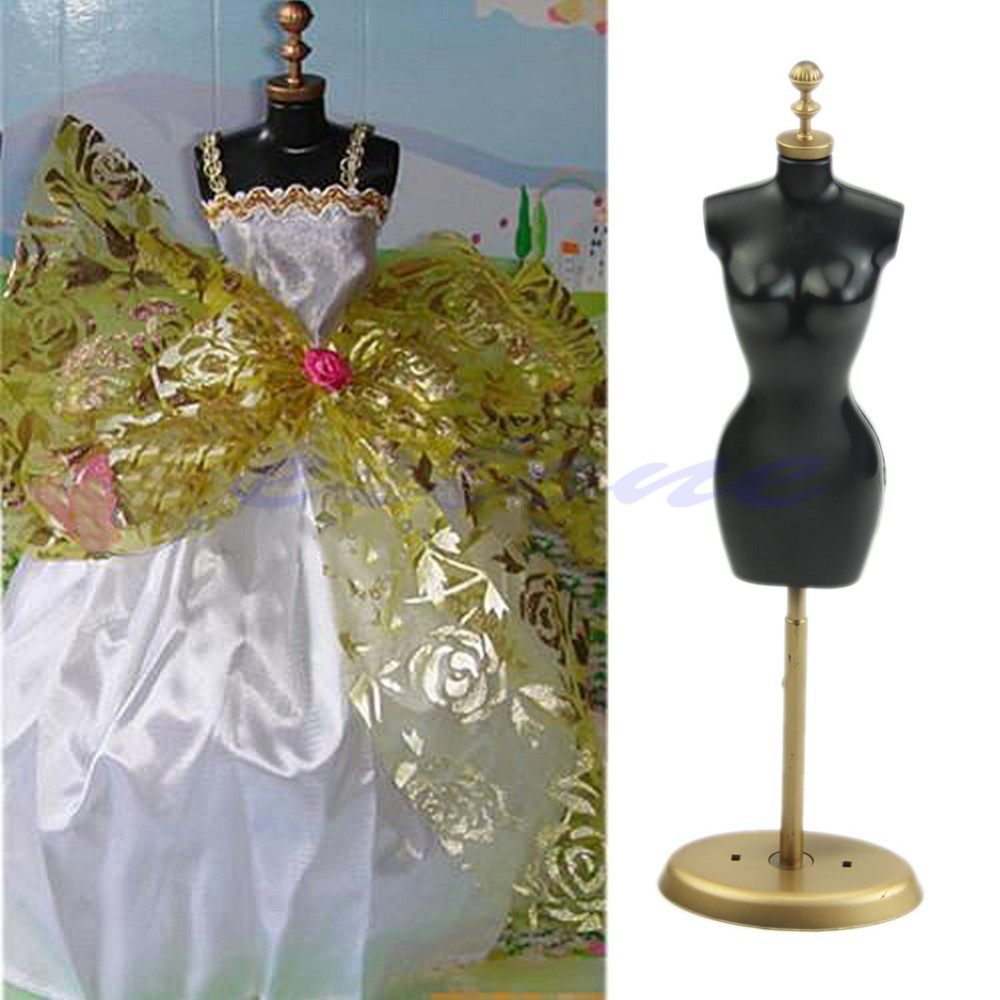New 1pc Clothes Gown Display Mannequin Model Stand for Doll Holder Dress Form - ebuyerseller.com