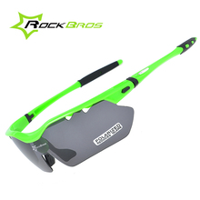 Buy RockBros Polarized Cycling Sunglasses Outdoor Sports Bicycle Glasses Bike Driving Sunglasses TR90 Goggles Eyewear 5 Lens for $12.04 in AliExpress store