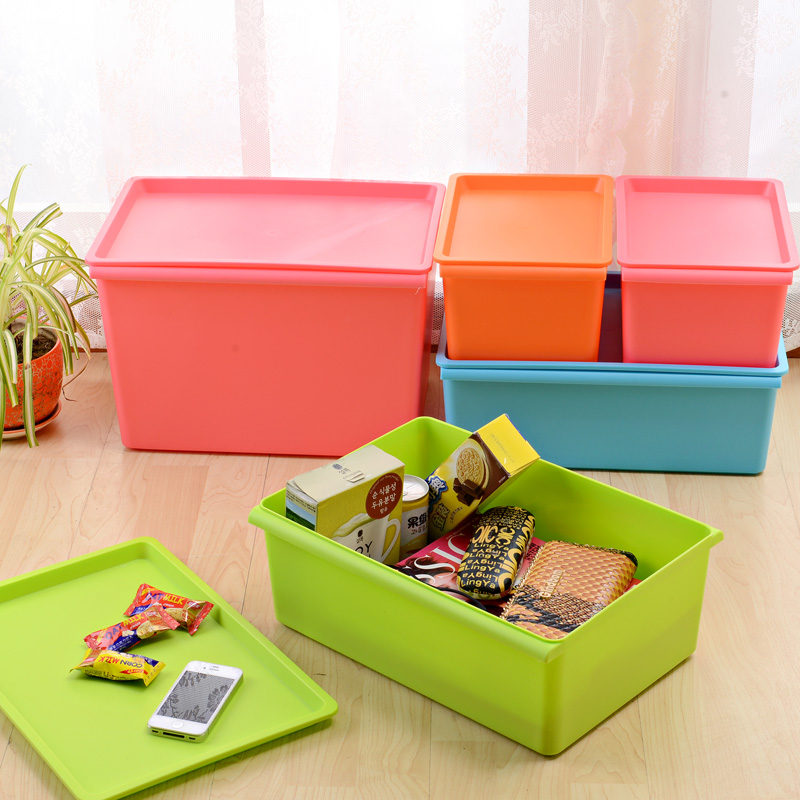 Plastic Storage Boxes Tubs Stackable Bins Containers Household Crafts