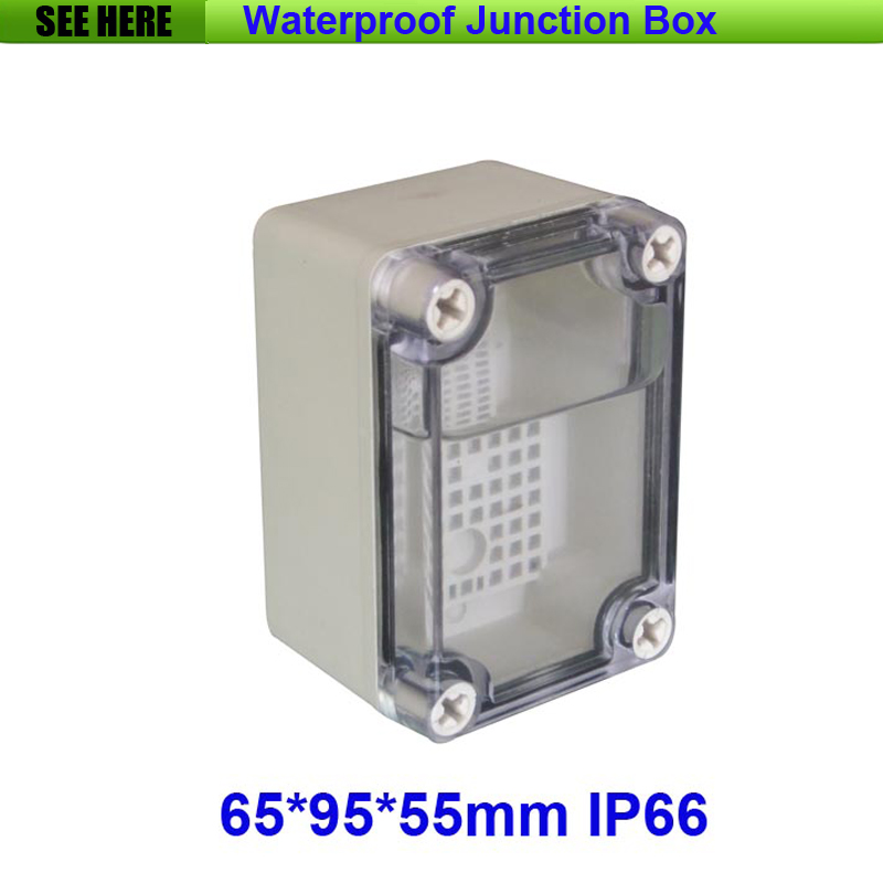 Free Shipping Good Quality ABS Material Clear Cover IP66 Waterproof Electrical Box 65*95*55mm(China (Mainland))