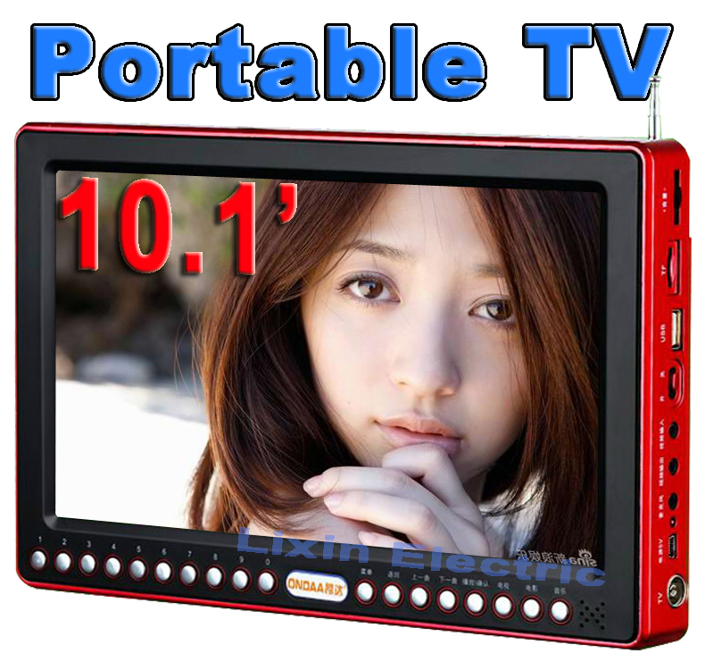 Television Smart Tv Quality Portable Outdoor13 Inch Mini Fm//tv Radio with Speaker And Earphone Keyboard Lock/sleep Function(China (Mainland))