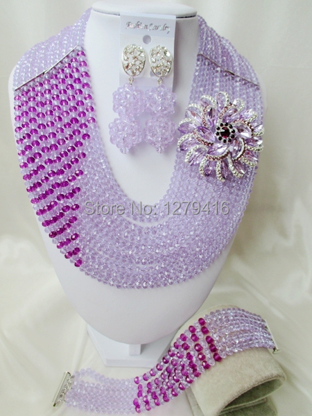 The beauty of Nigeria, USA, Europe, Africa, wedding jewelry, crystal necklace, bracelet and Earrings Set T-56033<br><br>Aliexpress
