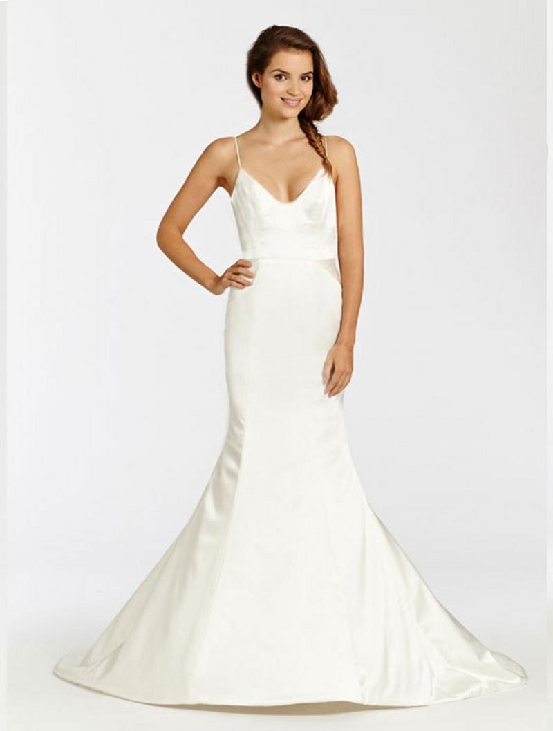 Wedding Dresses Modified A Line : Adora sexy bridal ivory charmeuse modified a line wedding dress