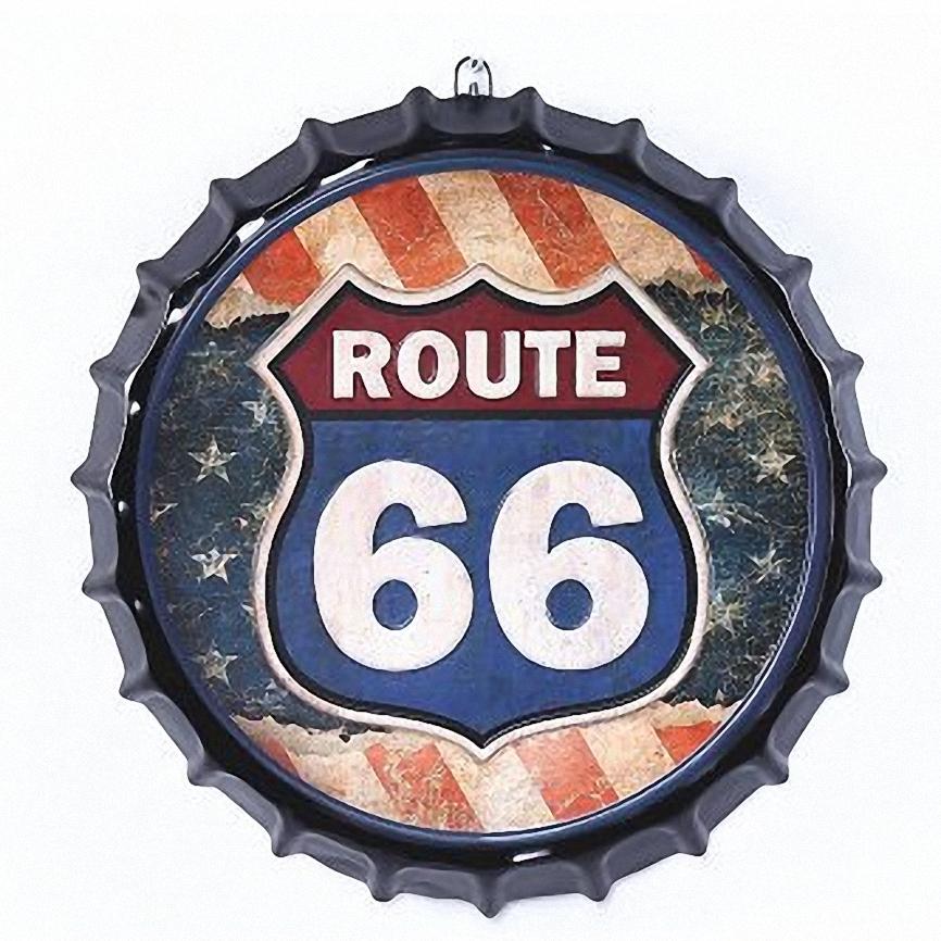 Achetez en gros 3d plaque murale en ligne des grossistes for Decoration murale route 66