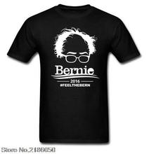 Bernie Sanders 2016 For President Election Campaign T Shirt Feel the Bern Tops Tee Shirt Cotton T-shirt Plus Size(China (Mainland))