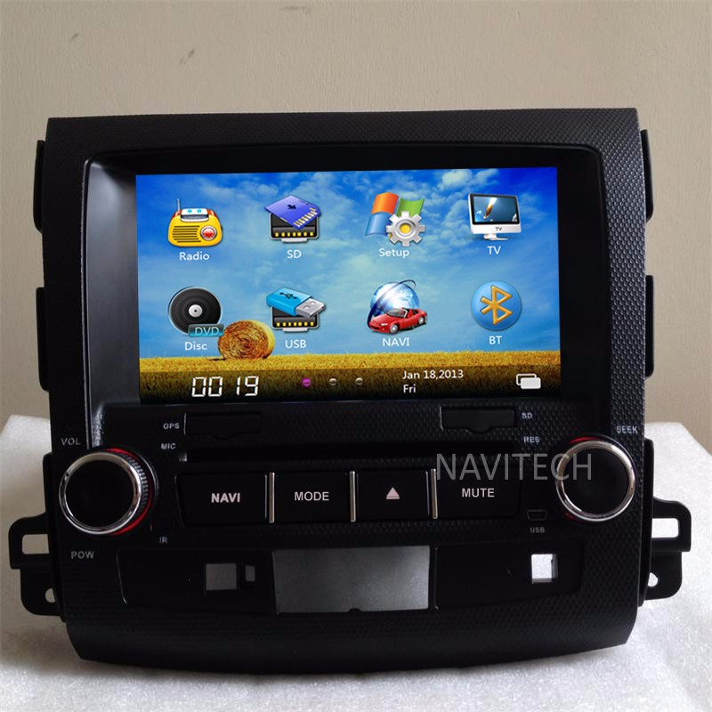 autoradio Car DVD GPS for MITSUBISHI OUTLANDER for peugeot 4007/citroen C-CROSSER Video Display+CANBUS+free map