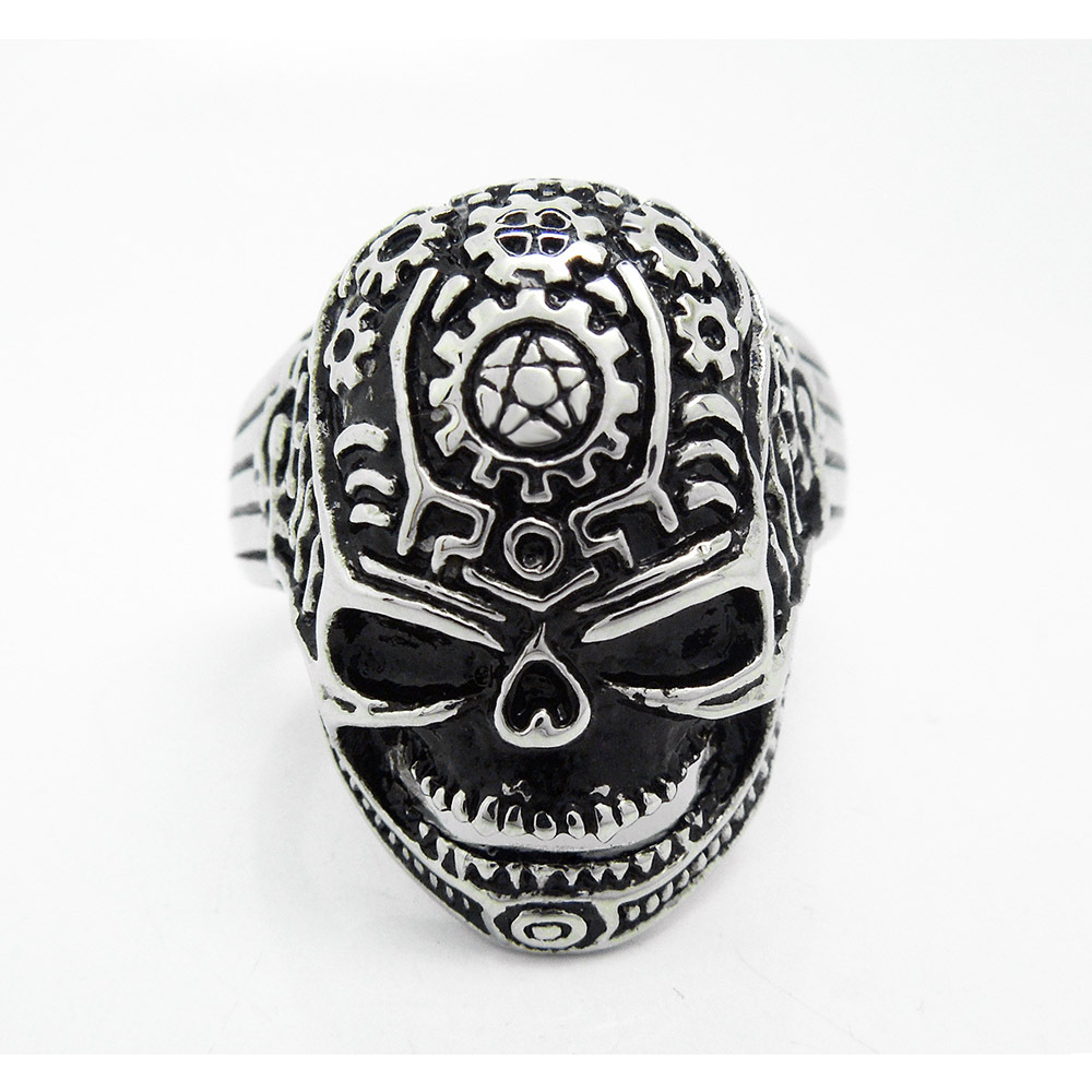 jewelery new retro jewelry skull large gear ring sa238