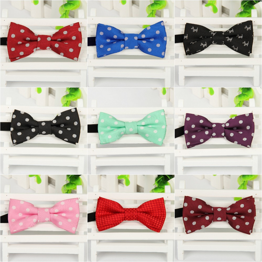 NEW Classic Dot Pattern woven Bowtie for Children Fashion Children s Bow tie Polyester Boy s