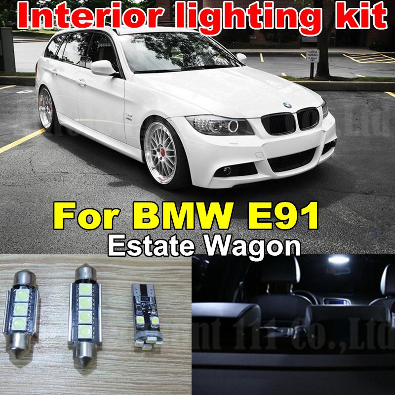 17x White Canbus Car LED BMW 3 Series E91 Wagon Estate Error Free Interior light kit 325xi 325i 328i 330i M3 2006-2012 - WLJH Carparts Store store