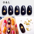 New 20pcs 3mm Triangle Design Alloy Metal 3d Nail Art Studs Gold Silver DIY Nail Accessories