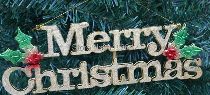 Christmas Decorations English Letters Merry Christmas Banner ...