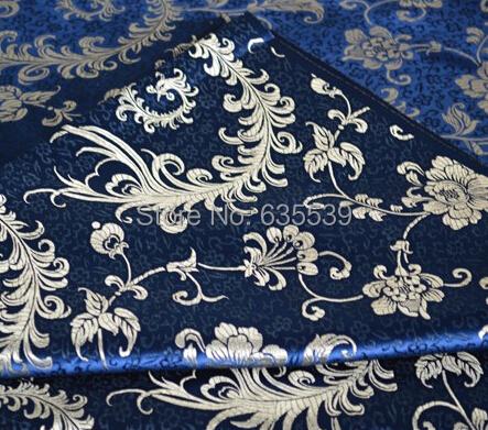 Phoenix pattern Jacquard sheet quilt fabric Europe blue brocade fabric car cushin fabric table cloth material(China (Mainland))