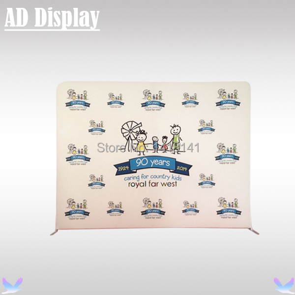 10ft Straight Tension Fabric Banner Display,Portable Exhibition Aluminum Stand With Single Side Stretchable Graphic Printing(China (Mainland))